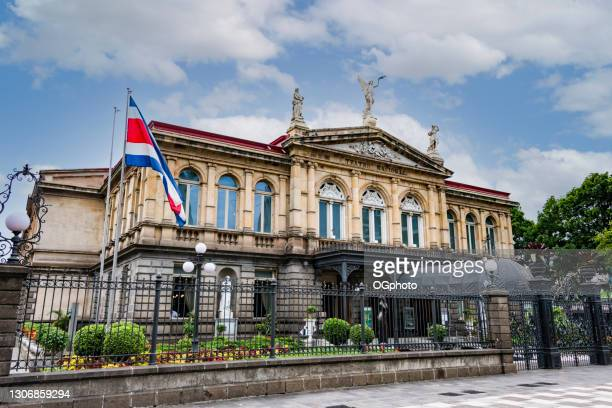national theatre of costa rica in san jose - ogphoto stock pictures, royalty-free photos & images