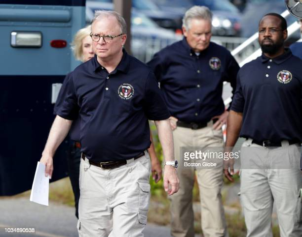 National Transportation Safety Board Chairman Robert L Sumwalt walks to an afternoon press conference in Lawrence MA on Sep 15 2018 Sumwalt disclosed...