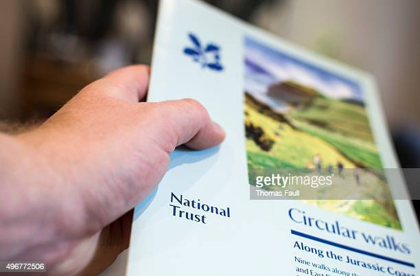 national trust booklet - flyer leaflet stock photos and pictures
