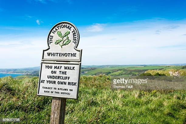 National Trust Whitenothe Sign