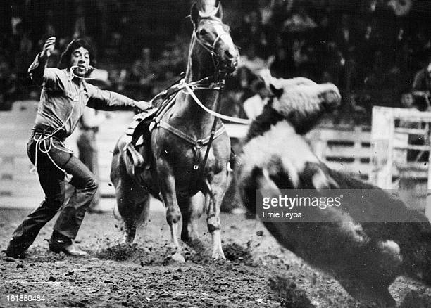 JAN 16 1974 JAN 17 1974 National Western Stock Show Leo Camarillo In Care Roping At The National Western