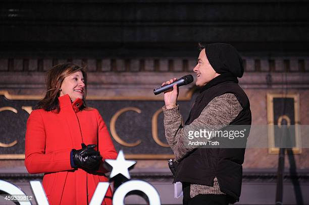 National Windows Director Macy's Roya Sullivan and Skipper Hood attend Macy's Herald Square 2014 Christmas Window Unveiling Spectacular at Macy's...