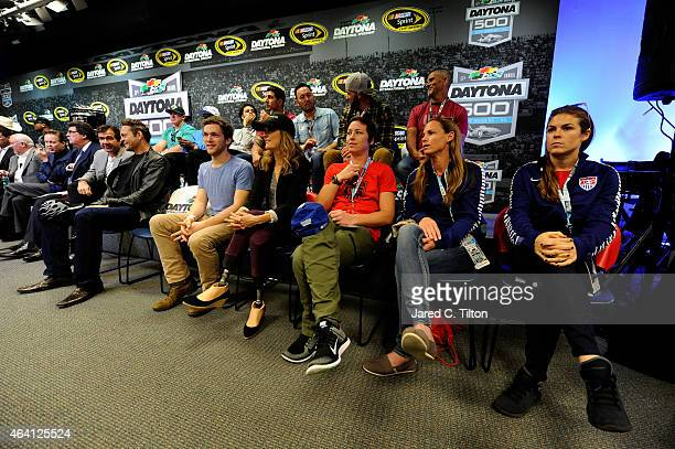 US National Women's Soccer Team players Kelley O'Hara Christie Rampone and Abby Wambach athlete Amy Purdy recording artist Phillip Phillips and actor...