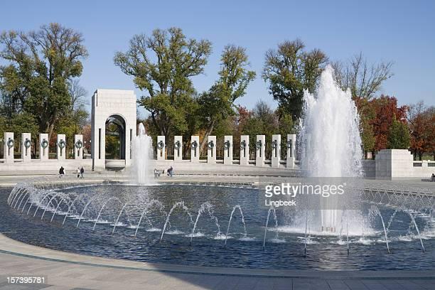 national world war 2 memorial, washington dc - national world war ii memorial stock pictures, royalty-free photos & images