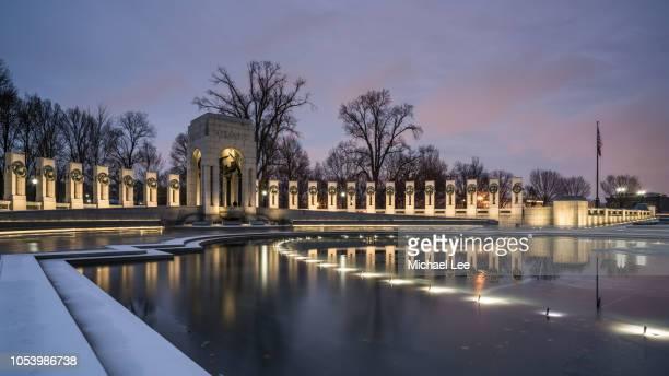 national world war ii memorial - washington, dc - national world war ii memorial stock pictures, royalty-free photos & images