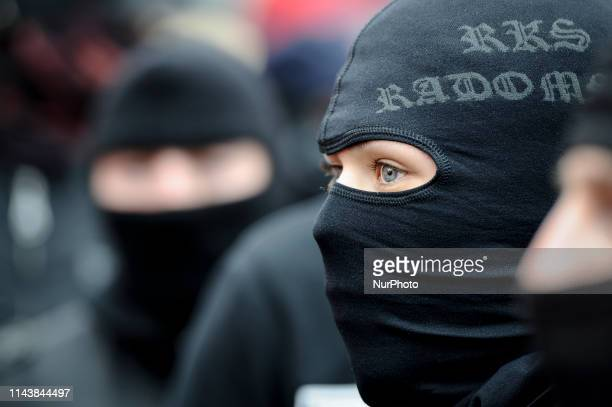 Nationalists are seen with balaclava's during the Independence Day March on November 11 2019 in Warsaw Poland