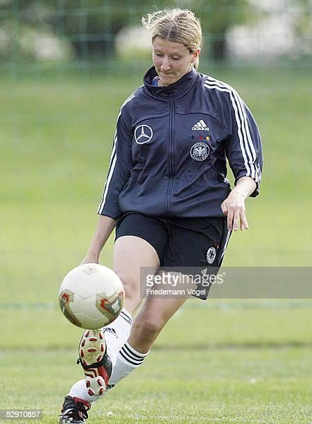 Nationalmannschaft Deutschland 2003 Leipzig Training Anja MITTAG
