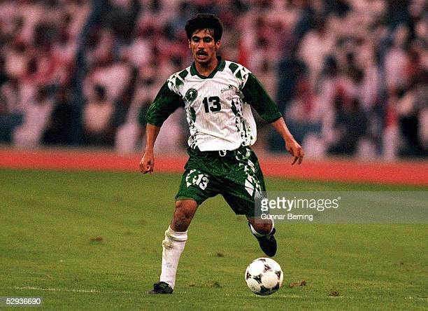 FUSSBALL Nationalmannschaft SAUDI ARABIEN 061197 Hussein SULIMANI EINZELAKTION