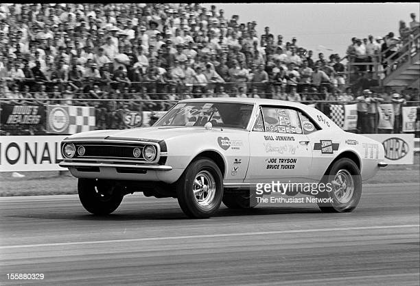 Nationals Drag Race Indianapolis Bill 'Grumpy' Jenkins in his 1968 Super Stock Chevrolet Camaro dubbed 'Grumpy's Toy'