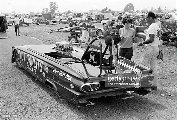 Nationals Drag Races Indianapolis Don Garlits' Dart 2 topless match racer built from Marvin Schwartz's Garlits Chassis Special dragster It represents...