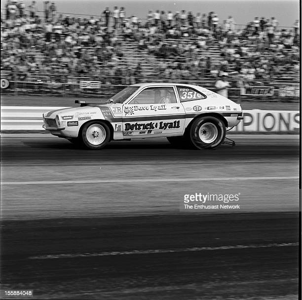 Nationals Indianapolis Raceway Park Dave Lyall piloting the Detrick Lyall Ford Pinto Pro Stocker