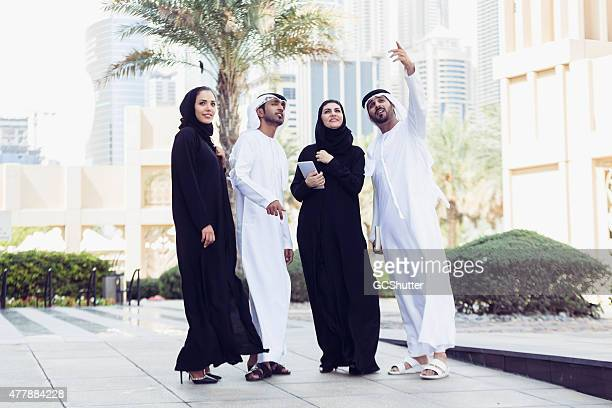 UAE Nations in traditional dress, Dubai, United Arab Emirates
