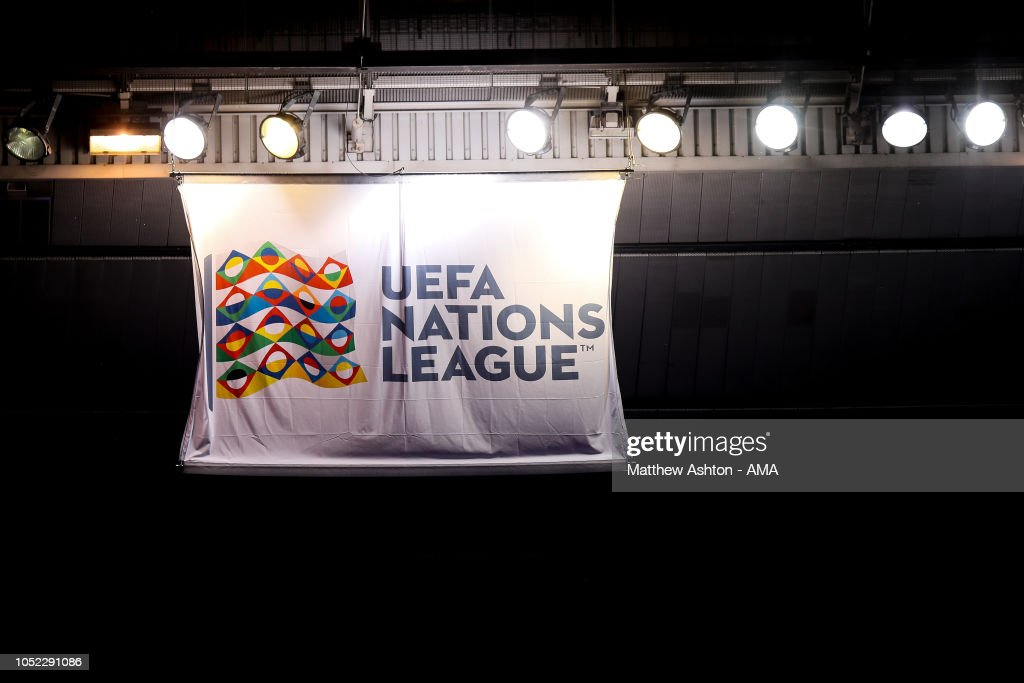 Nations League Branding On A Banner Prior To The Uefa Nations League News Photo Getty Images