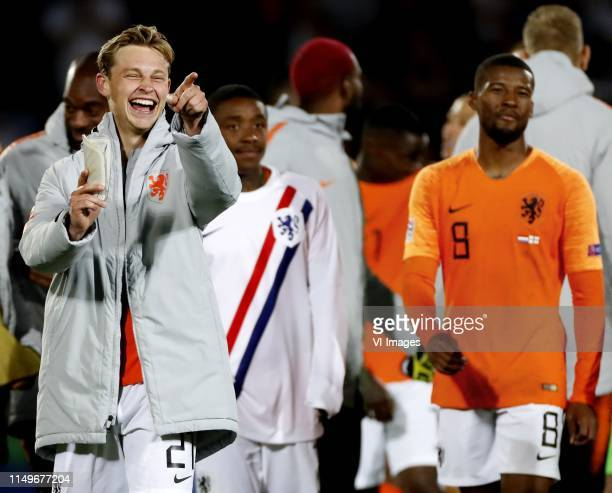 Nations League Finals halve finale NederlandEngeland Frenkie de Jong lacht want hij is tot man of the match uitgeroepen Foto Pim Ras l during the...