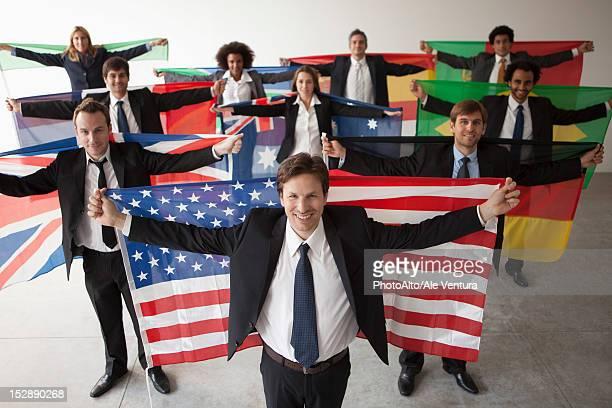 nations vie for shares of global business - bandeira de portugal imagens e fotografias de stock