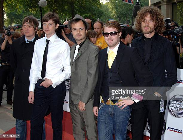 Nationwide Mercury Music Awards At The Grosvenor House Hotel London Britain 06 Sep 2005 Kaiser Chiefs Andrew White Nick Hodgson Nick Baines Ricky...