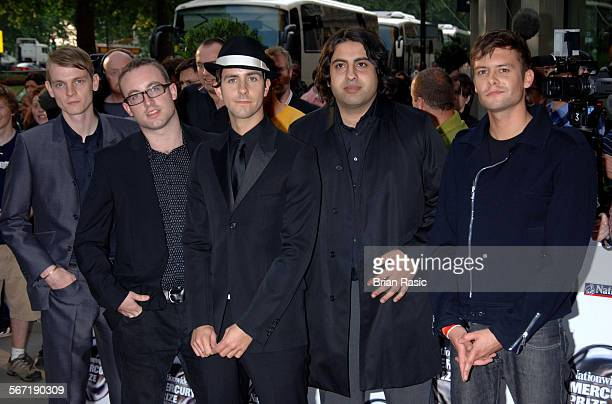 Nationwide Mercury Music Awards At The Grosvenor House Hotel London Britain 06 Sep 2005 Maximo Park Tom English Duncan Lloyd Paul Smith And Archis...