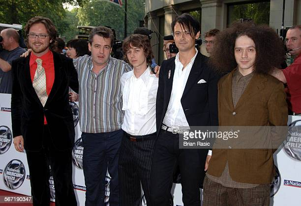 Nationwide Mercury Music Awards At The Grosvenor House Hotel London Britain 06 Sep 2005 Polar Bear Tom Herbert Mark Lockheart Leafcutter John Pete...