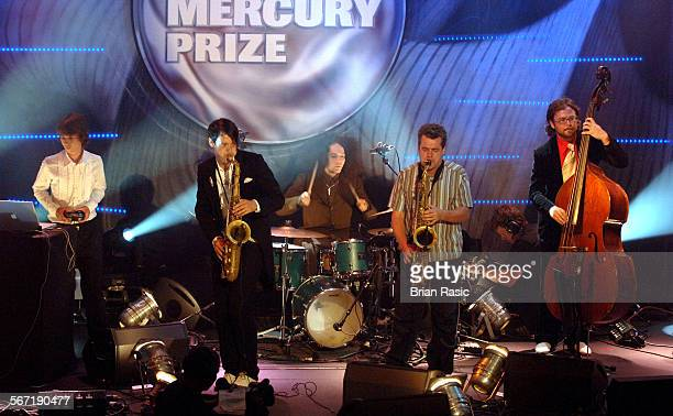 Nationwide Mercury Music Awards At The Grosvenor House Hotel London Britain 06 Sep 2005 Polar Bear Leafcutter John Pete Wareham Seb Rochford Mark...