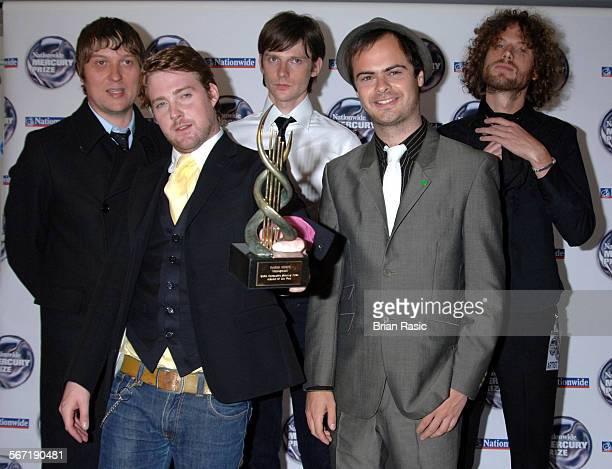 Nationwide Mercury Music Awards At The Grosvenor House Hotel London Britain 06 Sep 2005 Kaiser Chiefs Andrew White Ricky Wilson Nick Hodgson Nick...