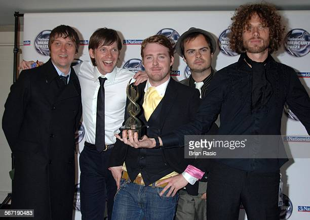 Nationwide Mercury Music Awards At The Grosvenor House Hotel London Britain 06 Sep 2005 Kaiser Chiefs Andrew White Nick Hodgson Ricky Wilson Nick...