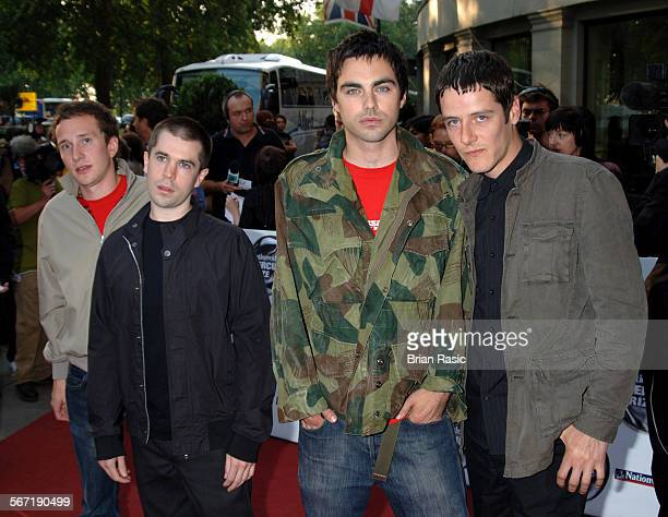 Nationwide Mercury Music Awards At The Grosvenor House Hotel London Britain 06 Sep 2005 Hard Fi Steve Kemp Kai Stephens Richard Archer And Ross...