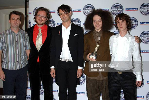 Nationwide Mercury Music Awards At The Grosvenor House Hotel London Britain 06 Sep 2005 Polar Bear Mark Lockheart Tom Herbert Pete Wareham Seb...