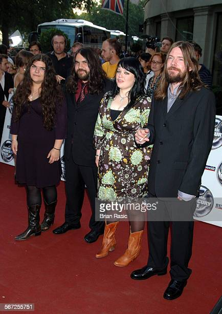 Nationwide Mercury Music Awards At The Grosvenor House Hotel London Britain 06 Sep 2005 The Magic Numbers Michele And Romeo Stodart And Angela And...