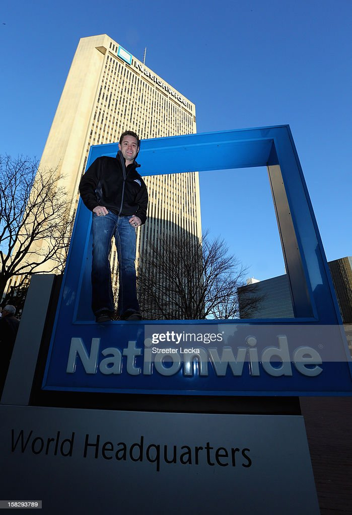 Nationwide Series Champion, Ricky Stenhouse Jr., poses for a picture outside the Nationwide World Headquarters during the NASCAR Nationwide Series Champion's Day on December 12, 2012 in Columbus, Ohio
