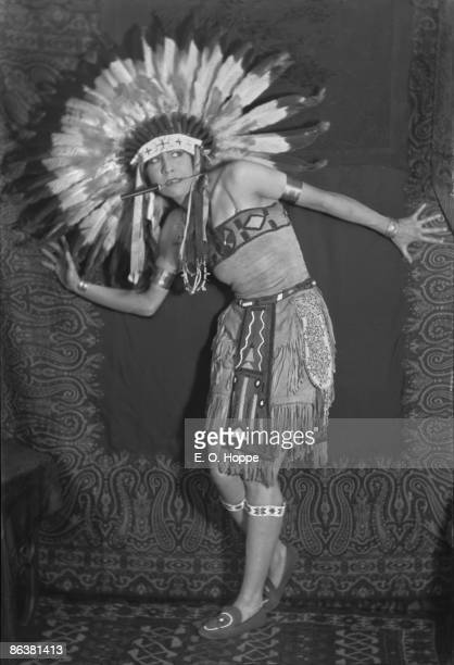 Native American actress and dancer Esther Deer aka Princess White Deer who performed with the Ziegfeld troupe 1921