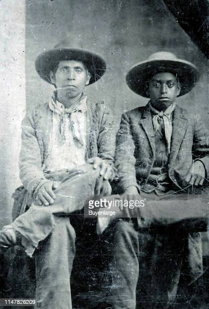 Native American And African American Cowboys, circa 1865. Images Of Indian Cowboys Are Rare.