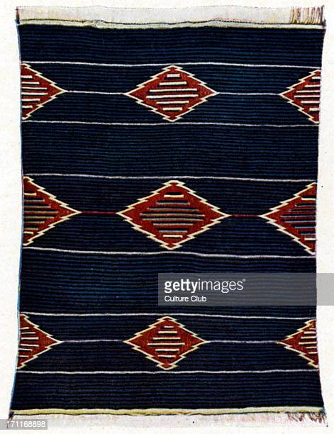 Native American blanket with old Hopi pattern one of the famed bayettas woven by the Pueblo People of New Mexico Pueblo Indian American Indians