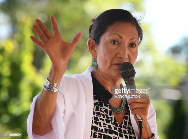 Native American candidate Deb Haaland who is running for Congress in New Mexico's 1st congressional district seat for the upcoming midterm elections...