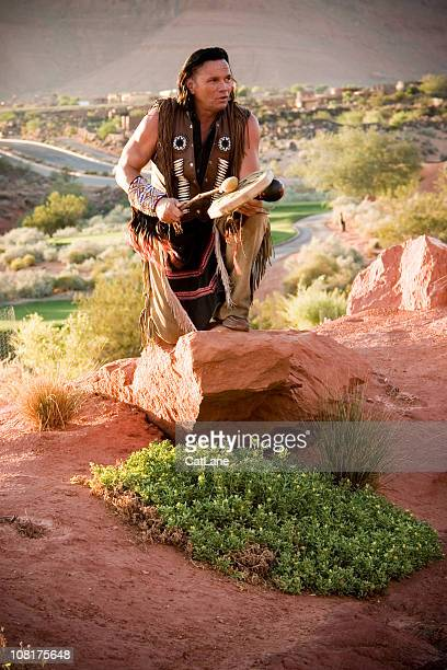 Native American Chief Performing Blessing