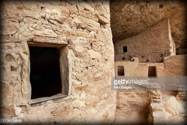 native american cliff dwellings - mesa verde national park stock pictures, royalty-free photos & images
