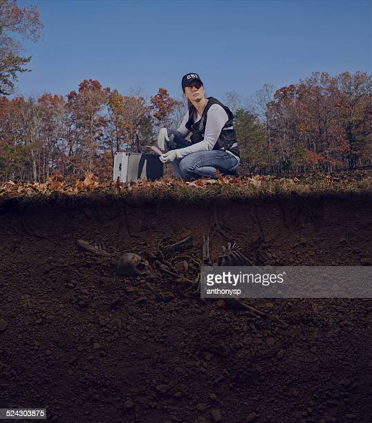 csi native american crime scene with buried victim - antiquities stock pictures, royalty-free photos & images