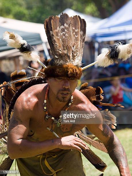 Native American dancing Wearing feathers Pow Wow