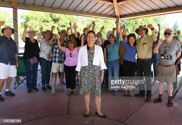 Native American Deb Haaland a first time candidate running for Congress in New Mexico's 1st congressional district seat for the upcoming midterm...