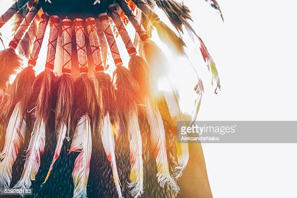 native american headdress - headdress stock pictures, royalty-free photos & images