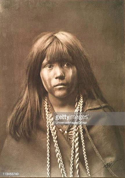 Native American Indian girl Photograph by Edward Curtis