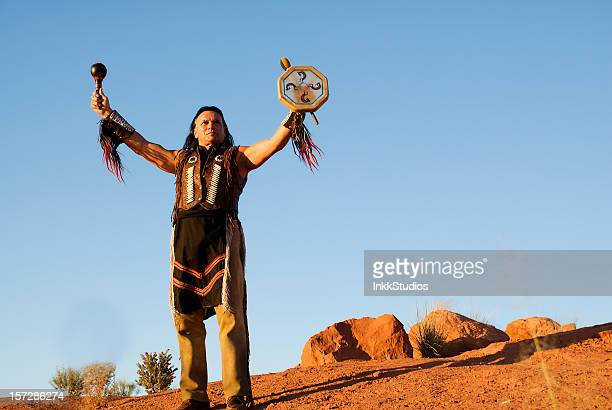 Native American Indian Giving a Blessing