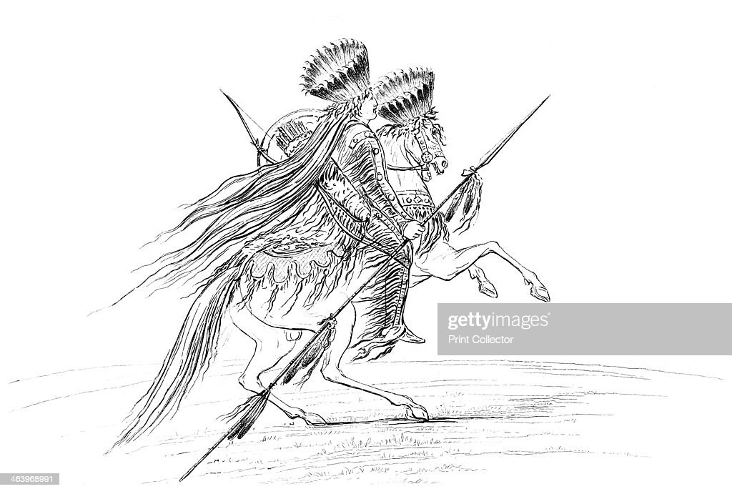 Native American Male With Weapons And Headdress Riding A Horse News Photo Getty Images