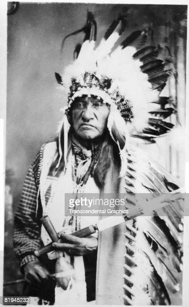 Portrait of the Native American Sioux White Bull nephew of Sitting Bull and participant in the Battle of Little Bighorn