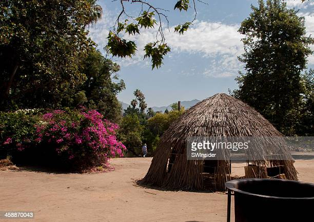 Native American Shelter Display at Los Angeles County Arboretum