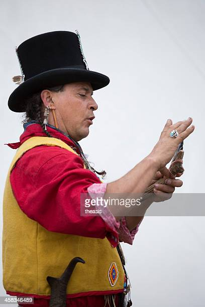 native american storyteller - theasis stock pictures, royalty-free photos & images