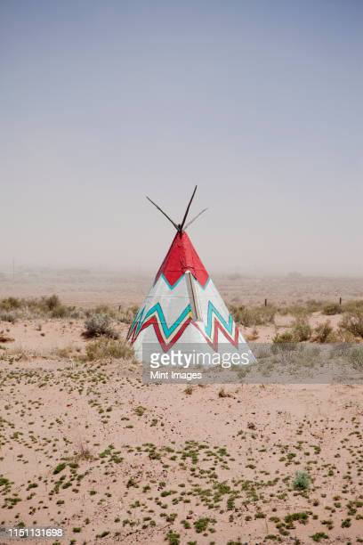 native american tipi replica - teepee stock pictures, royalty-free photos & images