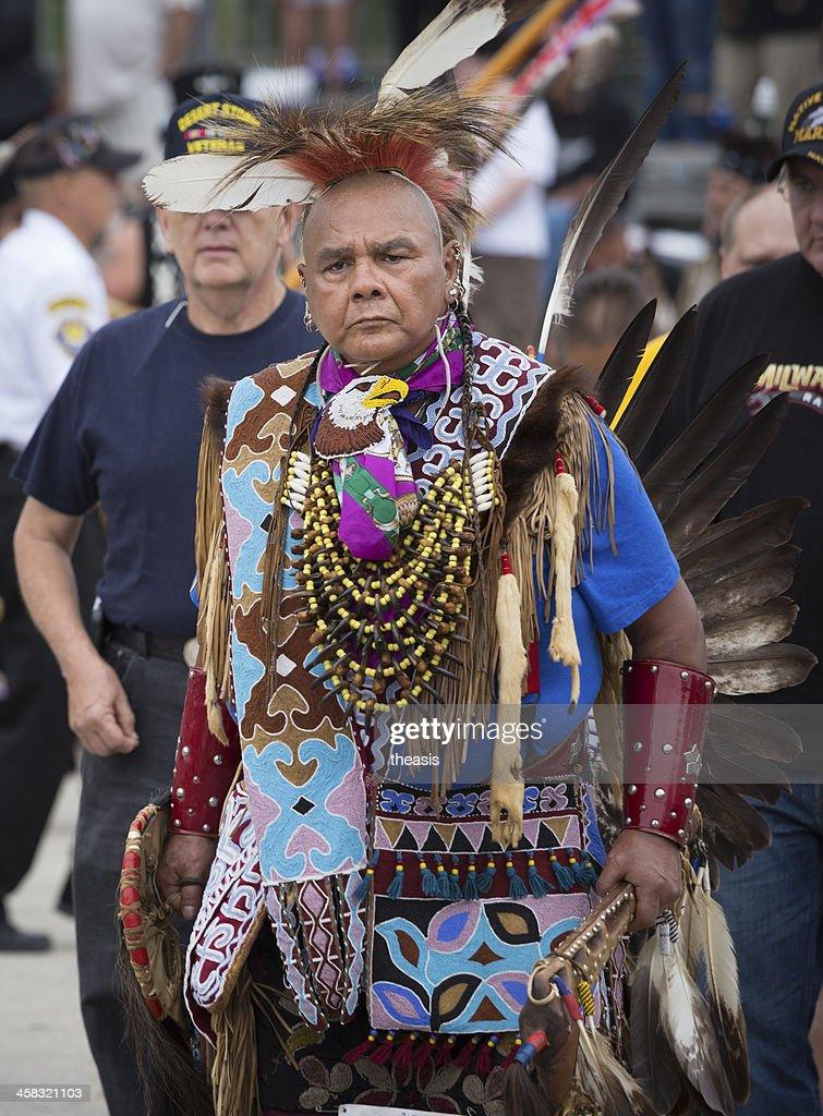 Native American War Veteran : Stock Photo