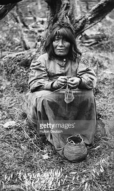 Native American Woman Near Cape Horn