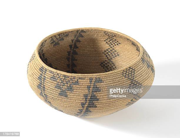 ネイティブアメリカンのバスケット織り