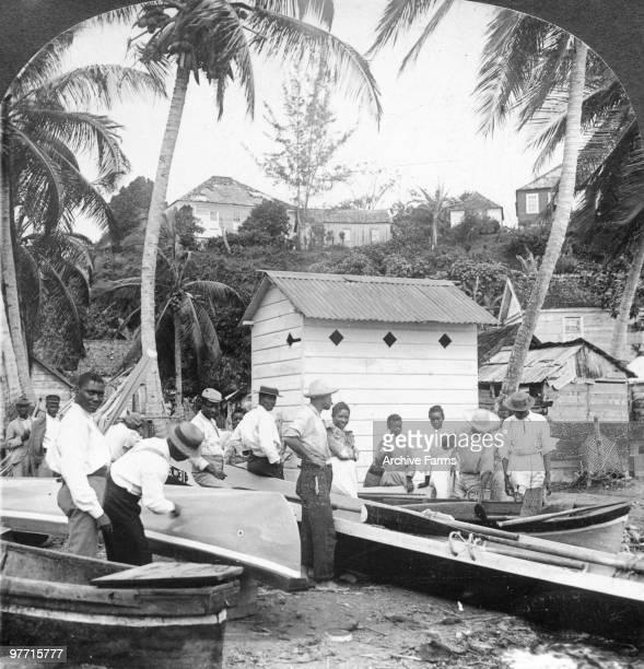 Native boat builders and fisherman Jamaica